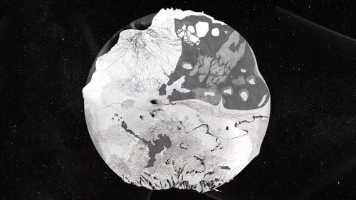 法國建築師 Alexandra Arènes 為哲學家 Bruno Latour「Inside」系列講座製作的示意圖《Anthropogenic Earth》 描繪受到人類活動影響,正被改變的地球生態。© Alexandra Arènes